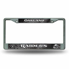 Oakland Raiders Metal Chrome License Plate Frame Auto Truck Car NFL