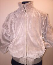 "Polo Ralph Lauren Vintage Heavy Suede L Leather Bomber Jacket ""Purple Tag"""