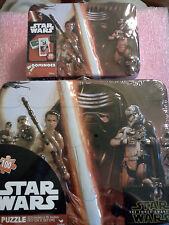 Star Wars Puzzle Lunch Box Tin & Matching Dominos Mini Tin Set The Force Awakens