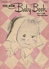 American Thread Star 53 New Baby Book Knit Crochet Patterns Bonnet Bootees 1947