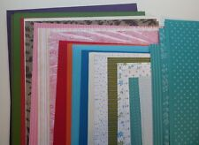 "Stampin Up! 60 12""x12"" Cardstock Paper Assorted Textured Brights & Smooth Prints"