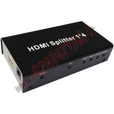 HDMI 4 PORTE V1.3 1080p SPLITTER FULL HD TV SDOPPIATORE TELEVISORE MONITOR INPUT
