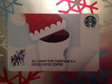 """STARBUCKS GIFT CARD """"SEASONAL HOLIDAY CAP"""" CO BRANDED + SIREN CARRIER"""