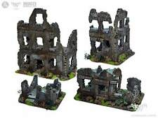 unique 4x Ruined Buildings DeathCity BOX wh40k, mordheim terrain /commission2016