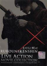 Samurai X Rurouni Kenshin Live Action Complete Movie 1 2 3 English Sub Region 0