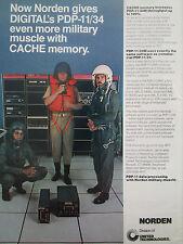 6/77 PUB UNITED TECHNOLOGIES NORDEN PDP-11/34M CACHE MEMORY PILOT HELMET AD