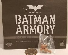 Original Hot Toys TDK MMS235 Batman Armory Bruce Wayne 1/6 loose arm pegs only!