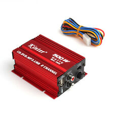 2-CH 500W Car Motorcycle 12V Mini Hi-Fi Stereo Audio Amplifier Amp Subwoofer US