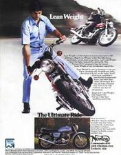 NORTON COMMANDO 850 Lean Weight Original Motorcycle Ad 1975