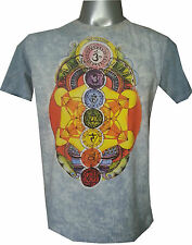 men t shirt PEACE  OM HINDU BUDDHA GANESH HIPPIE YOGA COTTON Hobo boho M NO TIME