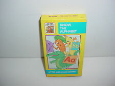 Know The Alphabet Letter and Sound Games VHS Video Tape Education Learning