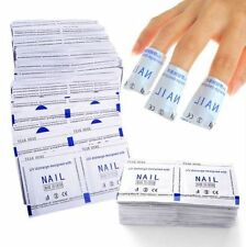 64pc Nail Polish Remover Pad Wraps Acetone UV Gel Acrylic Foil Wipes Soak Off