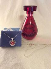 RARE!! AVON 'Christian Lacroix Rouge' Perfume & Flip Heart Necklace!