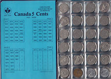 Canadian Nickel Collection - Includes Rare 1925 & 1926 Far 6 Variety in Unisafe