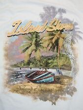Island Shore Excursions Beach Summer College Fun T Shirt L