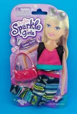 "NEW! FUNVILLE SPARKLE GIRLZ FASHION OUTFIT 12"" DOLL CLOTHES TOP PANTS & PURSE"