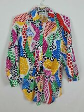 Vintage LA CHEMISE colorful batwing sleeves Long tail blouse size M