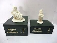 """Dept. 56 Snowbabies Just One Little Candle 6823-3 & I""""ll Put Up The Tree 6800-4"""