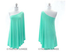 H1 MINT WING DRESS One Shoulder Kimono Sleeve Mini Bat Winged Sexy Cocktail S