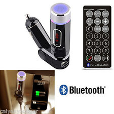 Bluetooth Car Kit FM Transmitter Handsfree Charger MP3 Player For Smartphones