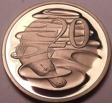 Large Cameo Proof Australia 1981 20 Cents~Duckbill Platypus~Free Shipping~