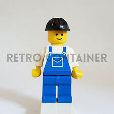 LEGO Minifigures - 1x ovr002 - Construction Worker - Omino Minifig Set 6379