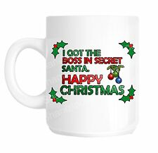 Secret Santa Christmas Boss Funny Office Joke Gift Mug shan760