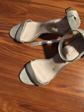 Glint Silver Crystal Satin Women's Dress Shoes Size 9 1/2 M