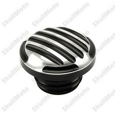 Aluminum Finned Fuel Gas Tank Oil Cap Cover For Harley Sportster XL 1200 883