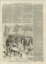 1892 Paris Dog Show Tuileries Sketch On The Grounds