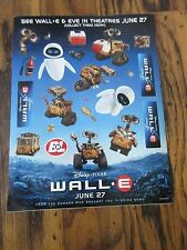 Wall-E Disney Pixar Eve Movie Release Date Promo Sticker Sheet June 27 HUGE