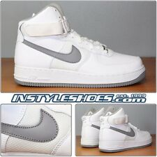 Nike Air Force 1 High 25Th Anniversary Sz 9 DS White Medium Grey 2007 315121-101