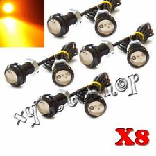 8X Amber LED Car Truck Front Grille Light Kit for Ford SVT Raptor Eagle Eye 12V