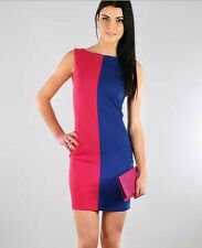 Twofer Vertical Colorblock Bodycon Dress