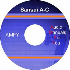 SANSUI service manuals, owners manuals and schematics on 3 dvd, all pdf format