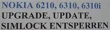 NOKIA 6310i 6310 6210 / UPDATE /UPGRADE/ SIMLOOK ENTSPERREN / BRANDING ENTFERNEN