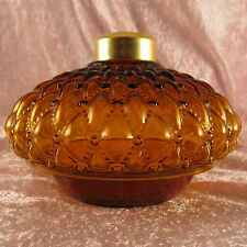 AMBER DQ glass OIL LAMP FONT /table or wall bracket.Cabin,victorian,old west