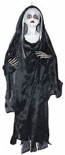 Small Hanging Bloody Ghost Doll Black Robe Halloween Decoration Prop NEW