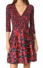 $598 Diane von Furstenberg DVF Jewel Montage Mini Rubiate Red Dot Wrap Dress 4