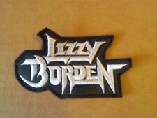 LIZZY BORDEN,SEW ON WHITE EMBROIDERED PATCH