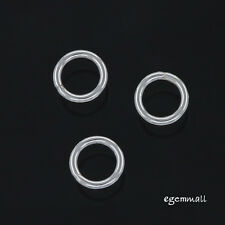 10 Sterling Silver Closed Jump Ring 6mm 18ga  #51241