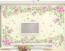 Rose Flowers Wall Stickers,Wall Decals LC_FUUM