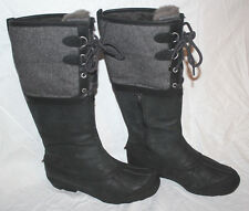 UGG WOMENS BELCLOUD BLACK #9.5us $295 WATERPROF LEATHER