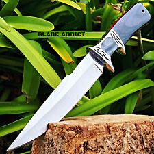 """10.25"""" Wood Hunting Survival Skinning Fixed Blade Knife Full Tang Army Bowie"""