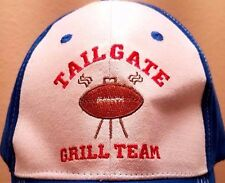 Tailgate Grill Team Blue & White Cap Hat With Adjustable Closure