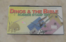 DINOS &THE BIBLE FOAM MOUNTED SET OF 10 RUBBER STAMP,CREATE YOUR OWN BIBLE CRAFT