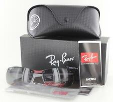 RAY-BAN RB 8305 142/T3 Carbon Fiber Polarized Sunglasses Grey/Red Authentic New