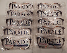 Vintage 10 pc. Parade Eyewear #1252 Pecan Blue 55/16 P3 Eyeglass Frame Lot NOS