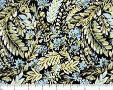 #G105 Black BTY Quilt Fabric BY THE YARD FreeSpirit Chinoiserie Dena Designs