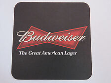 Beer Coaster: BUDWEISER The Great American Lager ~ Add'l Coasters Only $0.25 S&H